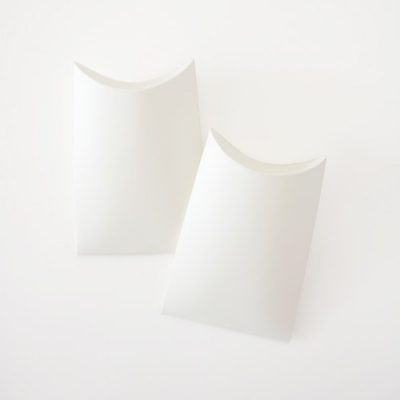 Small white pillow boxes by Paper Eskimo