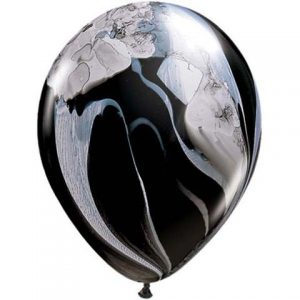 Black & White SuperAgate Marble Balloons