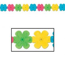 Multicoloured flower garland for a Hawaiian Luau party