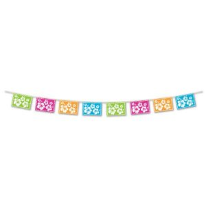 Hibiscus Luau Pennant Banner to decorate your Tiki bar or Hawaiian party.