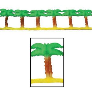 Use the Palm Tree Garland to decorate your beach or Hawaiian Luau themed party.