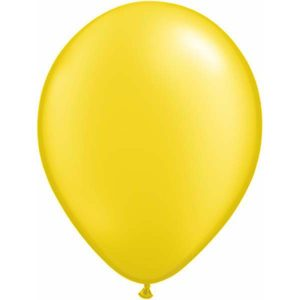Pearl Citrine Yellow Mini Balloons by Qualatex.