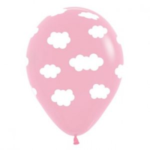 Pink Clouds Balloons by Sempertex are perfect for a 1st birthday or baby shower.