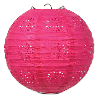 Pink Lace Paper Lanterns by Beistle.