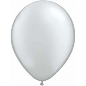 "Silver Mini Balloons are a small 5"" size."