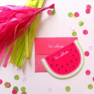 Watermelon party invitations and ideas for a summertime party.