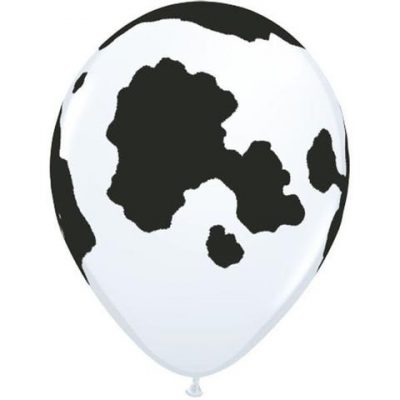 White Holstein Cow Balloons for your farmyard party!