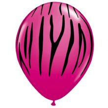 Wildberry Zebra Stripe Balloons for your pink zebra, glamour or hens night party!