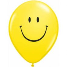 Yellow Smile Face Balloons 11""