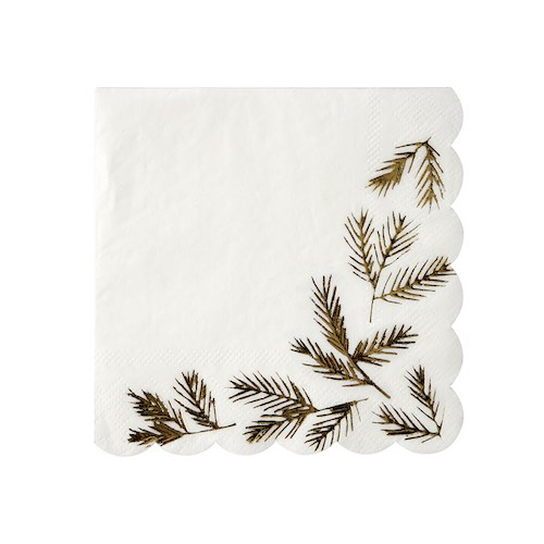 Gold Pine Napkins by Meri Meri