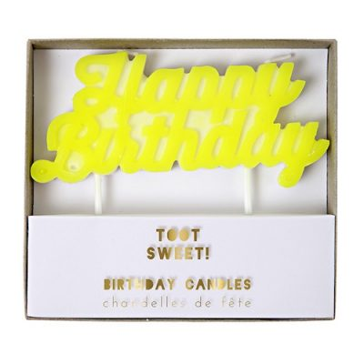 The Toot Sweet Happy Birthday candle by Meri Meri is perfect for your birthday cake.