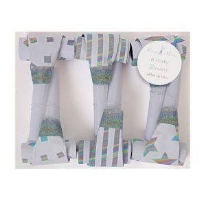 Silver Party Blowers by Meri Meri.
