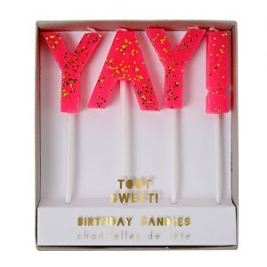 Enjoy the Yay Candles by Meri Meri for your birthday cake.