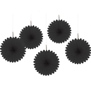 Black mini paper fans by Amscan make great Halloween decorations.