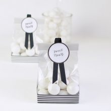 Black Tie treat bags by Paper Eskimo.