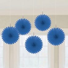 Royal Blue mini paper fans by Amscan.