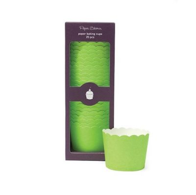 Solid green baking cups by Paper Eskimo make great cupcake cases.