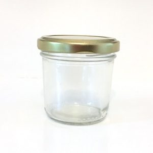 120ml round glass jar for wedding favours or mini dessert portions.