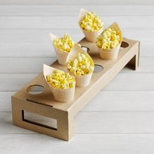 Cone holder tray for holding wooden cones.