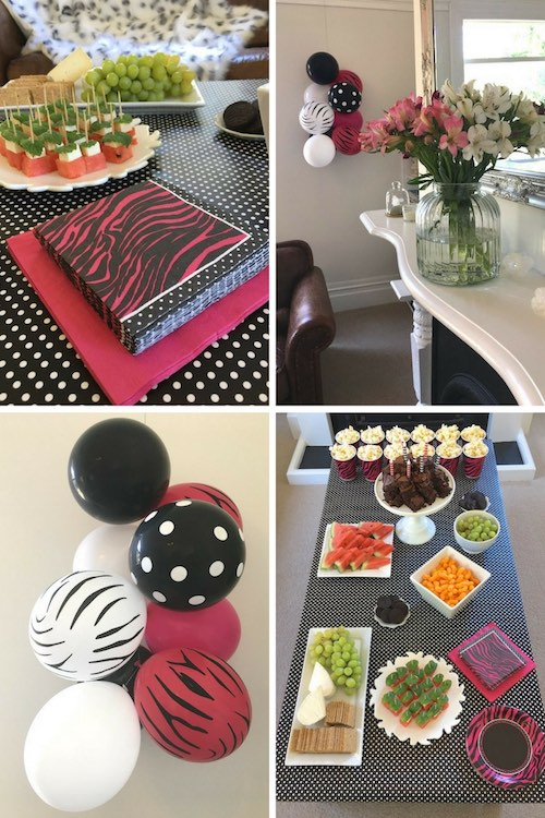 Pink zebra party theme ideas.