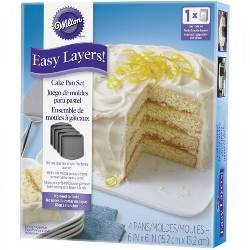 Wilson Square Easy Layers Cake Pan Set for the perfect layer cake.