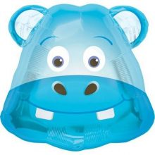 Hippo Head Foil Balloon by North Star Balloons