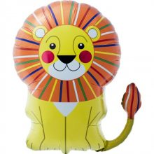 Smiling Lion Foil Balloon by North Star Balloons