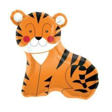 Tiger Foil Balloon by North Star Balloons features a smiling tiger.