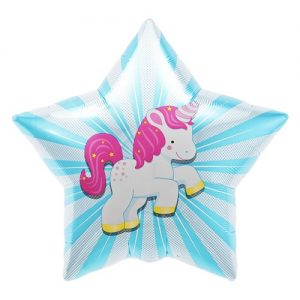 Unicorn Starburst Foil Balloon by North Star Balloons is perfect for your unicorn party theme.