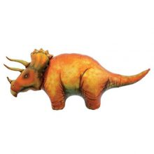 Triceratops foil balloon by North Star Balloons available in NZ.