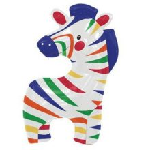 Colourful Zebra Foil Balloon by North Star Balloons available in NZ.