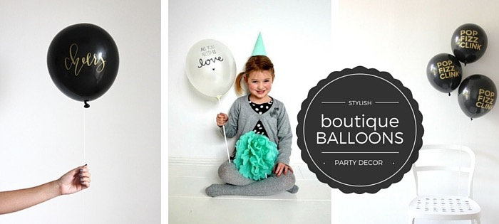 Boutique printed balloons for a stylish event available in NZ.