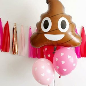 Poop Emoji Foil Balloon for your emoji party available in NZ.