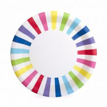 Rainbow Paper Plates by Paper Eskimo in NZ.
