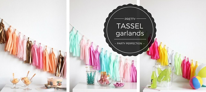 Tassel garlands in all colours available in NZ.