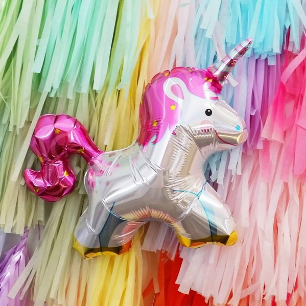 Unicorn balloon by Northstar Balloons.