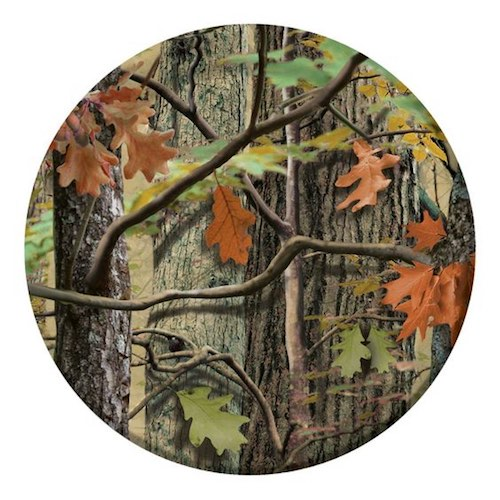 Hunting Camo paper plates for a hunting or deer inspired birthday party.