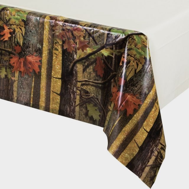 Hunting Camo Table Cover for a hunting birthday party.