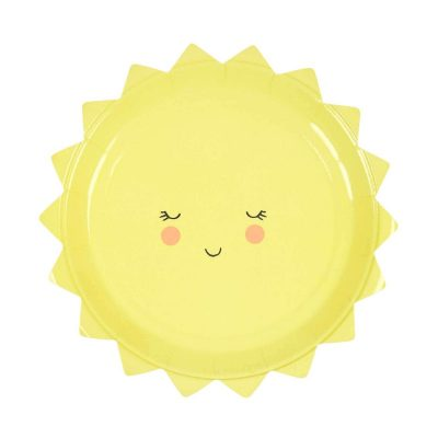Sun Paper Plates from the Oh Baby range by Meri Meri.