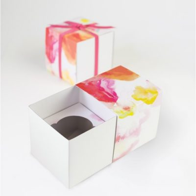Floral Escape cupcake boxes by Paper Eskimo