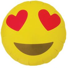 Face & Love Heart Eyes Emoji Foil Balloons by North Star Balloons