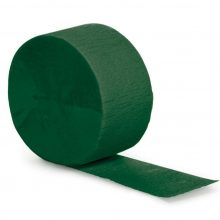 Hunter Green Crepe Paper Streamer NZ