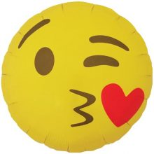 Kissing Emoji Foil Balloon by North Star Balloons