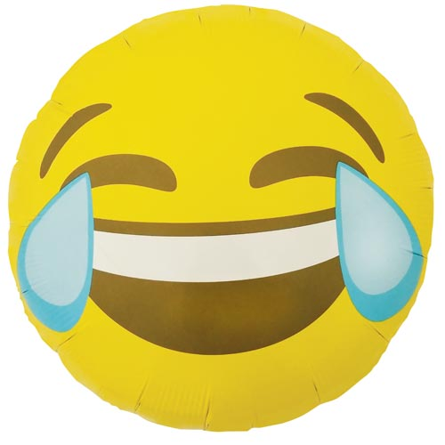 crying laughing emoji foil balloon by north star balloons