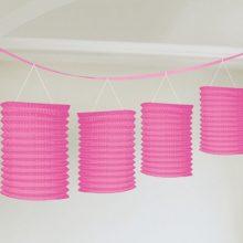Pink lantern garland NZ