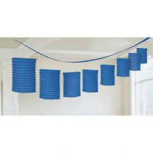 Bright royal blue lantern garland available in NZ.