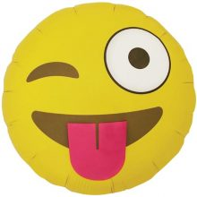 Winking Emoji Foil Balloon by North Star Balloons