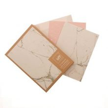 Marble & Blush Copper Notecards