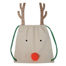 Reindeer back pack / Santa Sack by Meri Meri available in NZ.