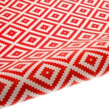 Aztec Red gift wrap table runner